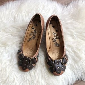 Naughty Monkey Stamp Buckle Wedges (Size 8)